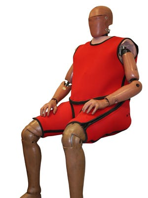 Obese crash test dummies are being manufactured by Humanetics to better reflect the changing waistline of the U.S. population.