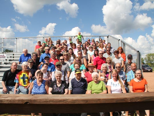 The Merwin Family celebrated their 79th reunion on Aug. 14, with approximately 93 people in attendance. The reunion was held at the 525 Wausau. Plans are already in the making for the 80th reunion in August, 2017. The group enjoyed a potluck lunch, followed by the annual meeting, white elephant sale, and afternoon of visiting. A moment of silence was held in remembrance of the loves ones who have passed away. In attendance were Roy and Pat Boneske; Terry, Anne, Bianca, and Landon Boneske; Keith, Tina, and Chloe Boneske; Nick, Amanda, Amia, and Kirianna Boneske; Randy, Kathy Boneske, and Grandson Gavon Kulas; Val, Abby, Andrew Murkowski; Alan and Susan Venzke; Connie Venzke; and Jackie Venzke, Patrick, Brinley, and Owen Kornack, all from Athens; Joan Baptist; Tina and Mason Ecklund; Renee Falstad; Deb Knudsen; Ralph and Heidi Merwin; Darlene Zietlow; and Mark Zoromski, from Wausau; Margo Engebretson, from Schofield; Jean and Jerry Fitzgerald; Jay, Pam and Rae Kangas; Rick, Carrie and Kyle Miller; Gary, Gayle, Brittney and Meagan Nechuta, from Mosinee; Richard and Kathy Boneske; Ben Boneske; Jessie and Cassandra Venzke, from Colby.