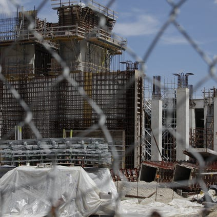 The unfinished Wayne County Jail project in Detroit, Thursday, August 15, 2013.