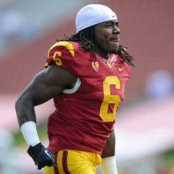 Josh Shaw of the USC Trojans during a game against Utah State last Sept.