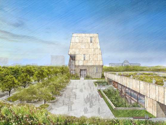 This rendering shows the conceptual design of the Obama