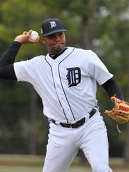 Sandy Baez was signed by the Tigers six years ago out