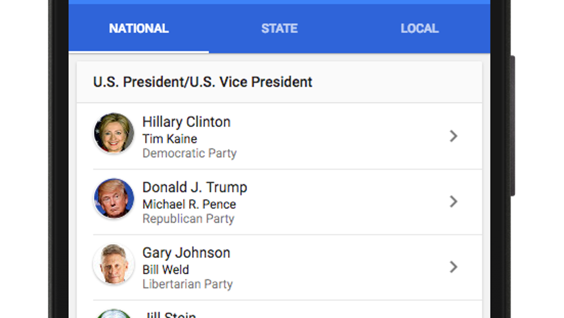 Where do I vote? Google now will tell you, and show you the ballot