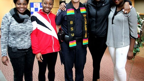 kente cloth ceremony u wisconsin superior black student union police chief
