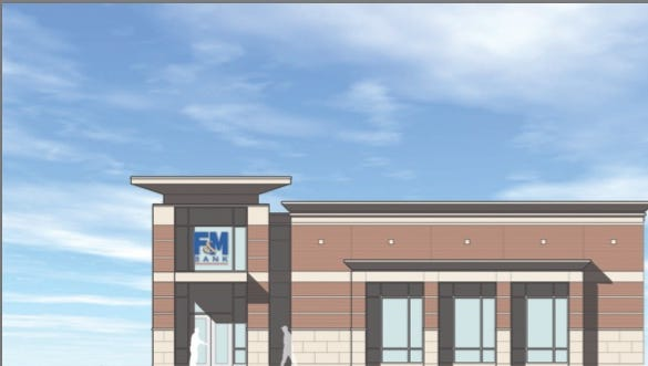 Artist rendering of planned F&M Bank and Mortgage Center in north Clarksville