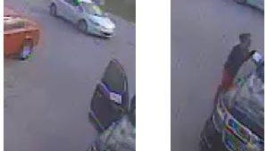 Fort Pierce Police are looking for the white car and the woman show in the surveillance photos taken Wednesday, March 8, 2017, in Fort Pierce.