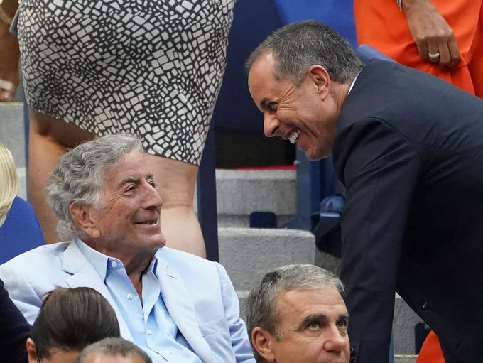 Tony Bennett and Jerry Seinfeld in attendance at the