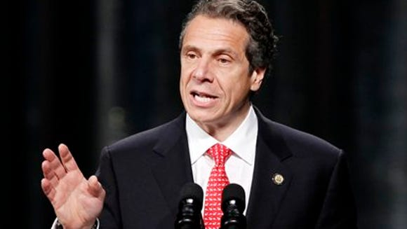 New York Gov. Andrew Cuomo speaks as he introduces