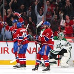 Montreal Canadiens left wing Max Pacioretty (67) celebrates