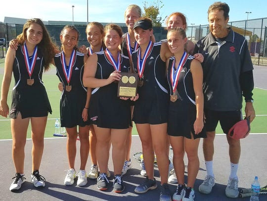 Indian HIll finished third in the Ohio Tennis Coaches
