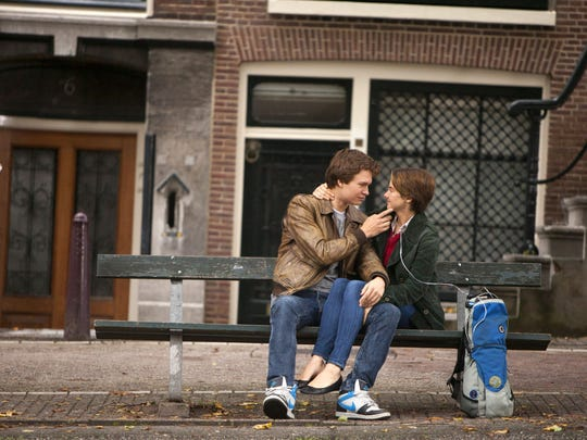 "Ansel Elgort and Shailene Woodley appear in a scene from ""The Fault In Our Stars."""