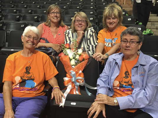 """Save Lady Vols"" supporters at Pat Summitt's Memorial service"