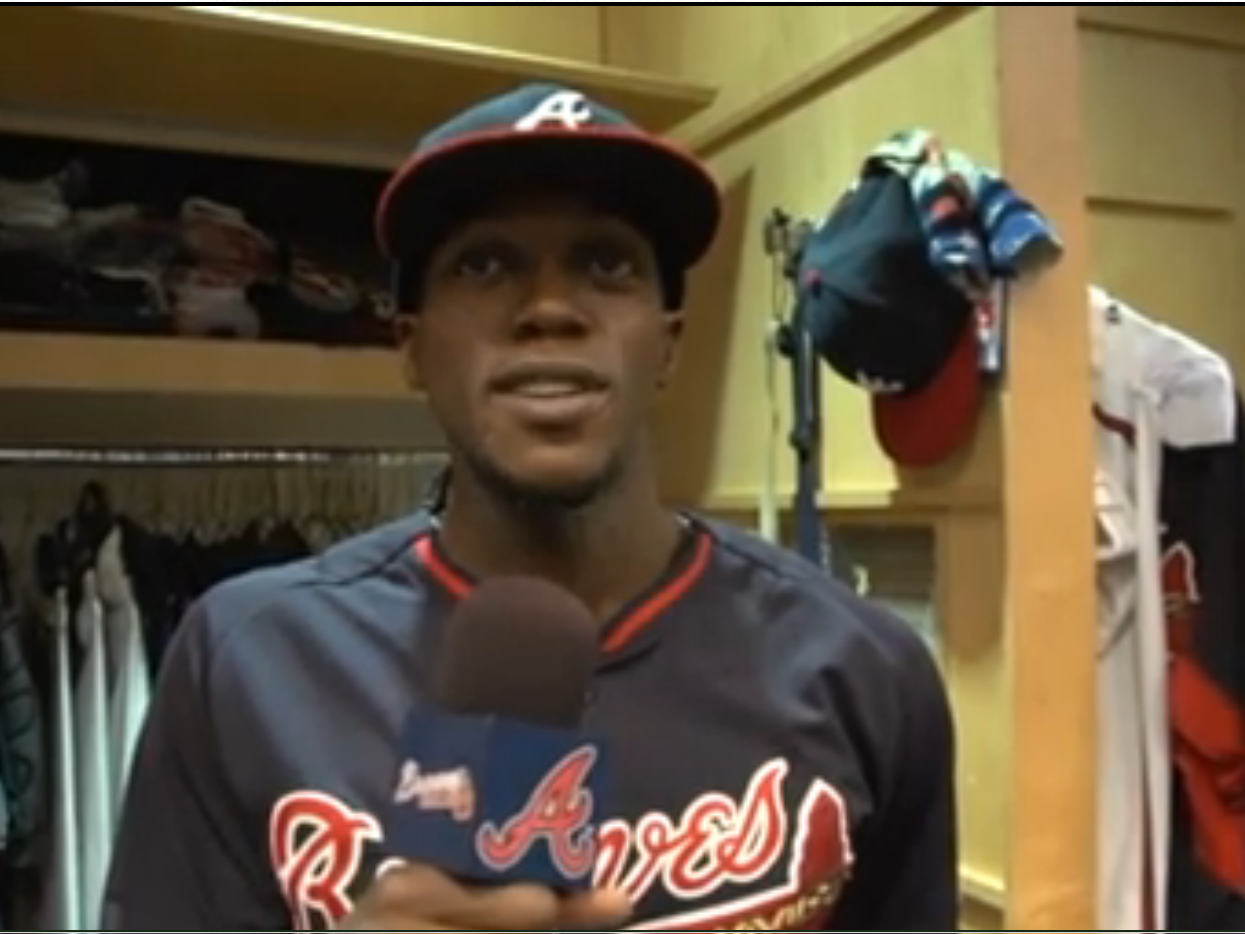Outfielder Cameron Maybin is one of several Atlanta Braves players passing along best wishes to the Northwood Little League team.