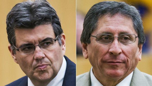 Defense attorney Kirk Nuri and prosecutor Juan Martinez