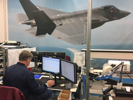 Harris builds components for the F-35