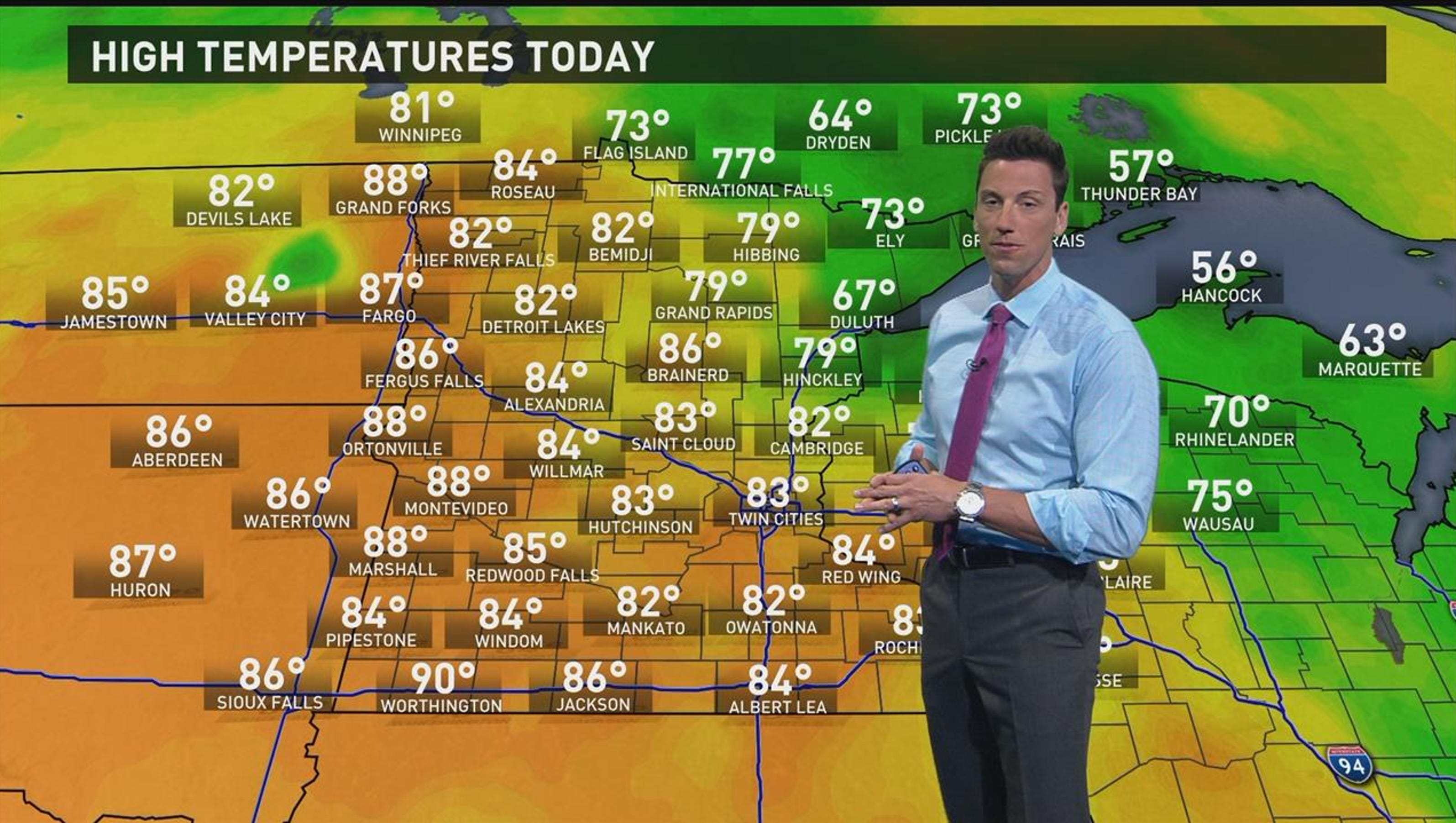 Kare 11 weather isolated showers possible tonight monday