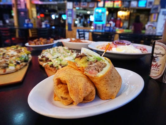 The steak wrap at The Barn in Zanesville is one of