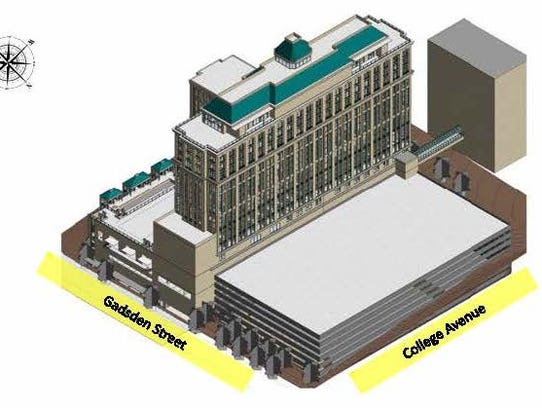 Proposed renderings for the Washington Square development.