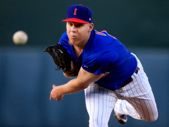 Rob Zastryzny pitches for the Iowa Cubs Thursday, April