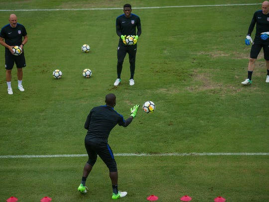 The goalkeepers of the U.S. Men's National soccer team