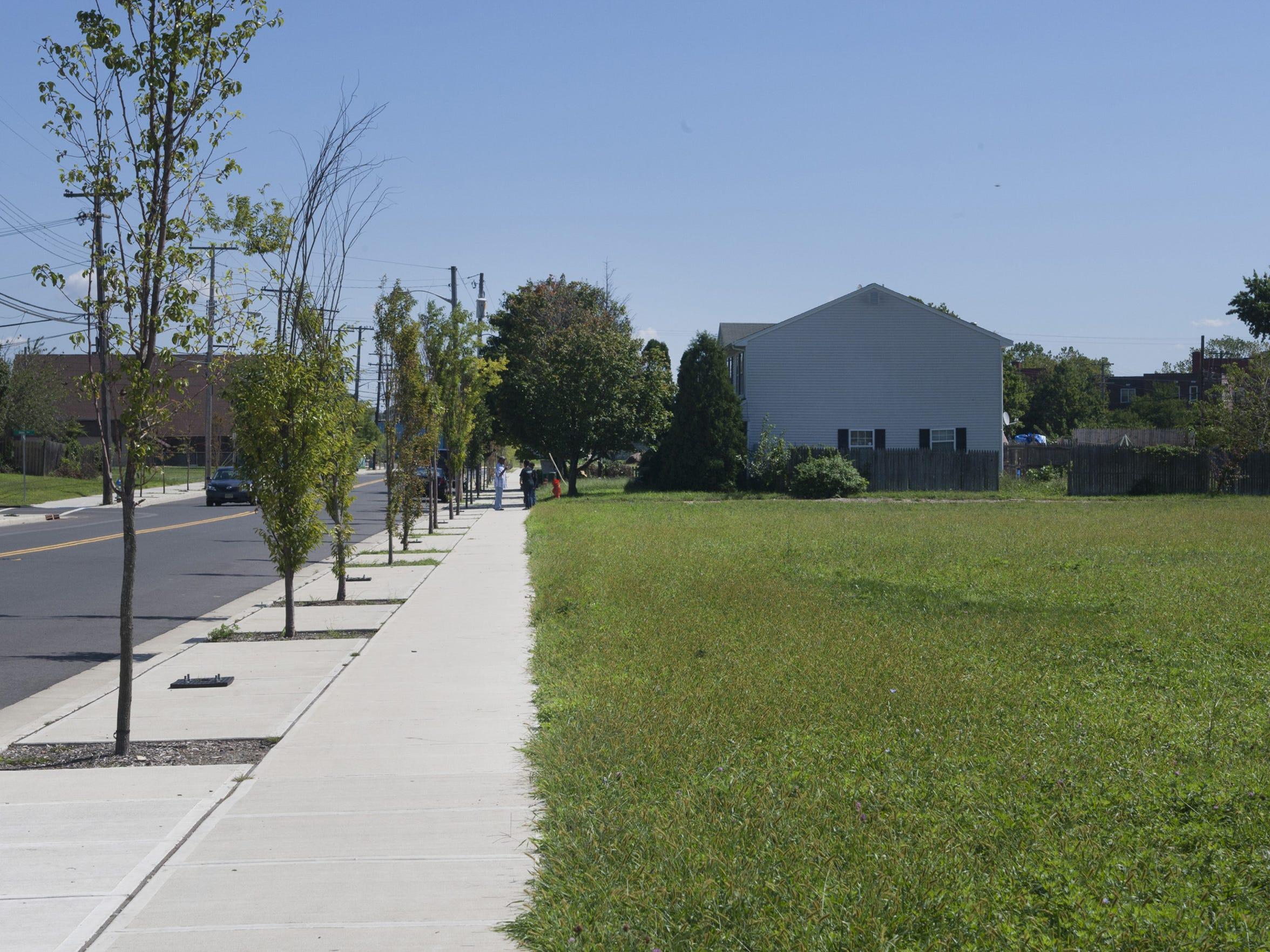 2012 Asbury Park - Looking east along Springwood Avenue,