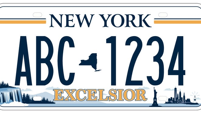 This is New York's new license plate design, which the state will begin rolling out in April 2020.