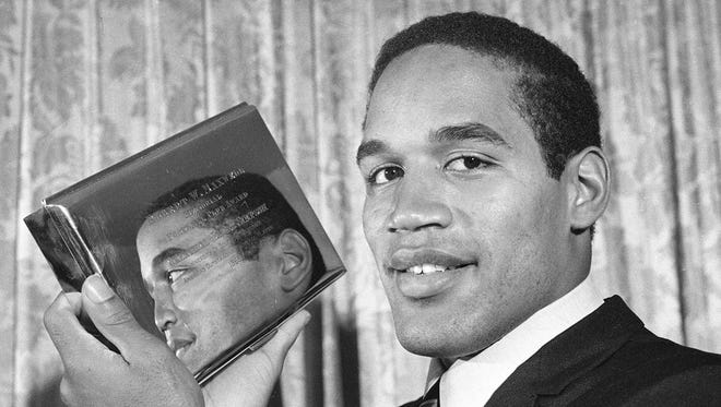 """The story of O.J. Simpson, here back in 1968, is being retold through a riveting 30 for 30 documentary, """"O.J. Made In America.' on ESPN."""