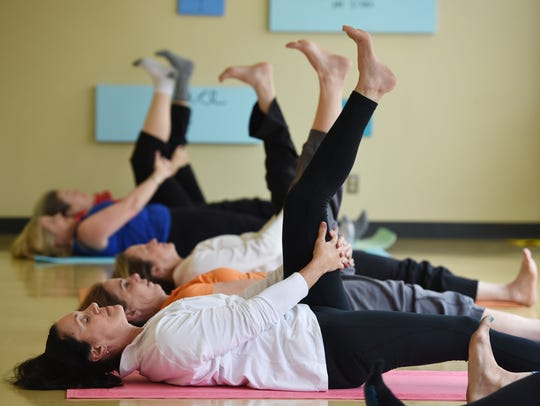 Students participate in Yahweh Yoga at Galloway United