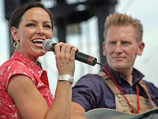Joey + Rory perform for fans during the CMA Music Festival