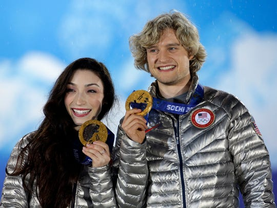 Meryl Davis and Charlie White were entering the Figure Skating Hall of Fame on Saturday night.