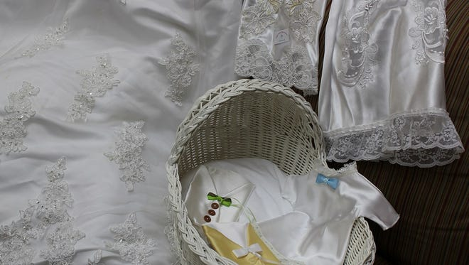 Angels Above Baby Gowns makes burial gowns out of donated wedding dresses for babies who are stillborn and infants who die soon after delivery.