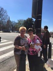 Flemington resident Kerri Messinger (right) lobbied