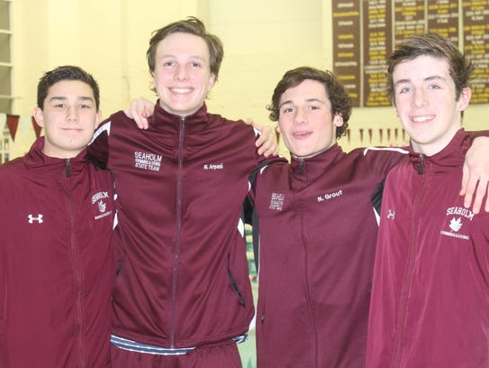 Seaholm's foursome of (left to right) Iain Bukowinski,