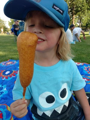 Sam Selby tries Corndoggies, a food truck that arrived in Fort Collins in 2016.