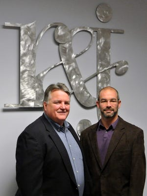 R & J Strategic Communications of Bridgewater has expanded its services after acquiring a design firm. Pictured from left to right are R&J President John Lonsdorf and Steve Guberman Steve Guberman, vice president of creative and digital services and formerly principal of Fifth Room Creative, the acquired firm.