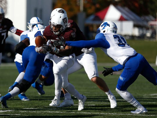The Missouri State Bears took on the Indiana State Sycamores during the Bears' homecoming football game at Plaster Stadium on Saturday, Oct. 28, 2017.