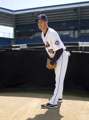 New York Mets pitcher Zack Wheeler during media day for the Binghamton Mets at NYSEG Stadium in 2012.