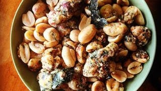Sweet and spicy nori peanuts at Lydia House