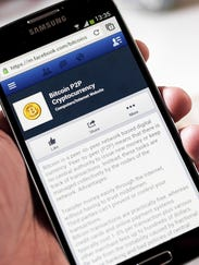 Bitcoin's mobile Facebook page