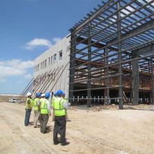 The Airport Board get a close up look at the new U.S. Coast Guard facility  under construction at Corpus Christi International Airport.