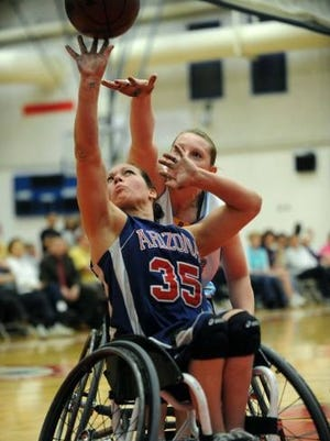 Delone Catholic graduate Jenn Poist will be competing in the Paralympic Games in Rio. She's shown here playing for the University of Arizona.