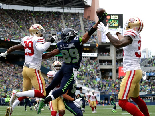 A pass intended for Seattle Seahawks wide receiver