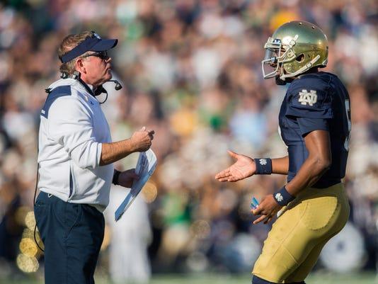 NCAA Football: North Carolina at Notre Dame