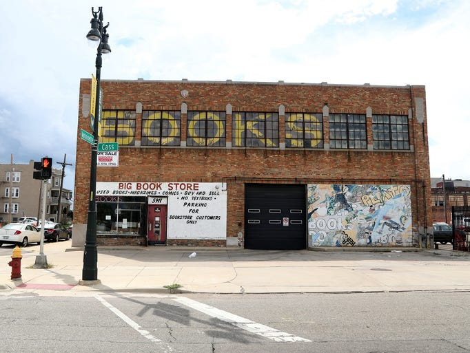 The exterior of The Big Bookstore on Cass and Antoinette