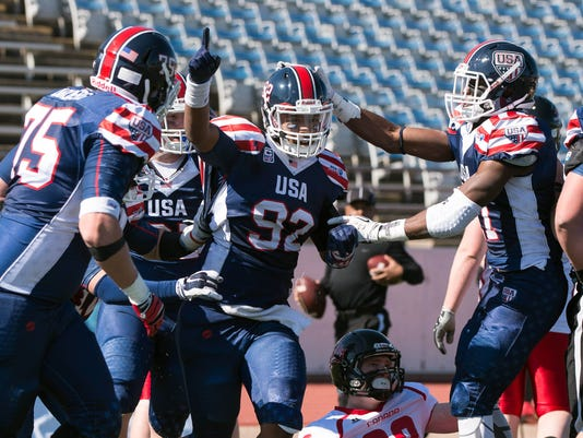 High School Football: International Bowl-Team USA vs Team Canada