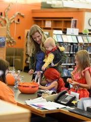 During Trick or Read at the Ankeny Library on Tuesday,
