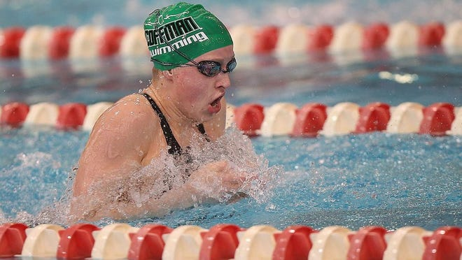 Ellie Andrews, the girls swimming and diving Athlete of the Year, won both the 200-yard  individual medley and 100 breaststroke and swam on the winning 200 medley relay in the Division I state meet to lead Dublin Coffman to its first team state title.