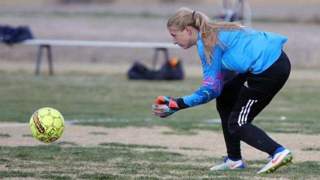 Hays High goalkeeper Isabel Robben has signed with FHSU soccer.