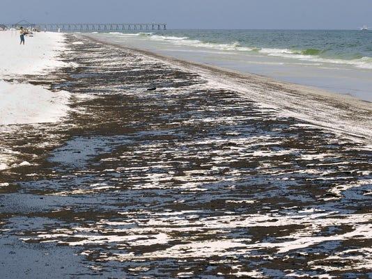 oil spill beach