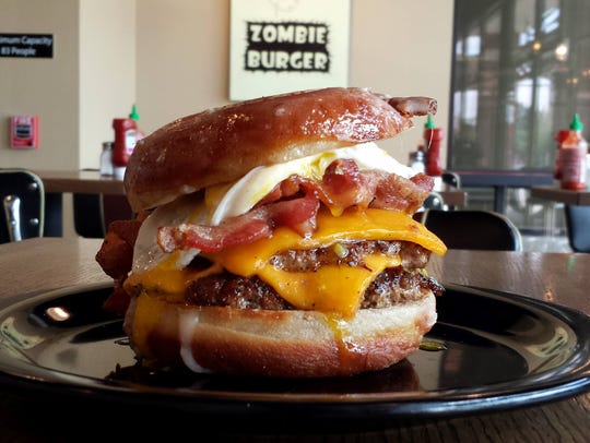 Dawn of the Donut burger.